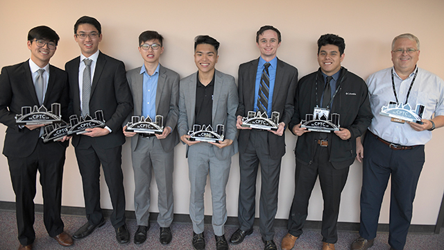 Cyber Competition Team poses for photo.