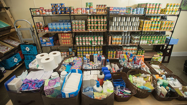 The food pantry at Cal Poly Pomona