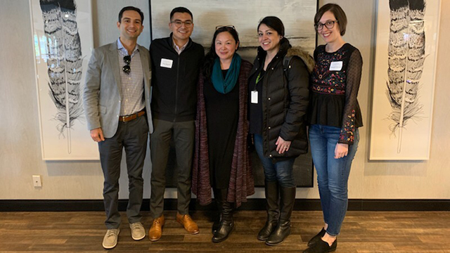 Lydia Chen Shah and some of her students
