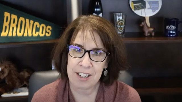 Eileen Sullivan speaking on video