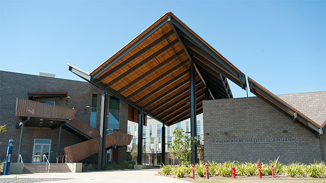 The College of Business Administration Building.