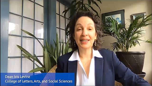 CLASS dean Iris Levine in a video screenshot