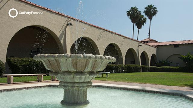 zoom background of University Plaza Fountain