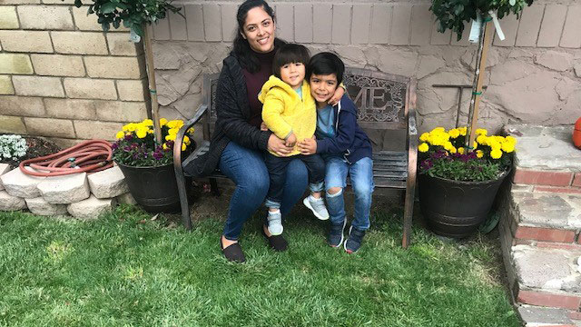 Viviana Pacheco and her 2 sons