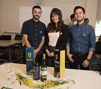 ENV Students Christian Venegas and Kazu Iwasawa along with ENV alumna Sarah Martinez