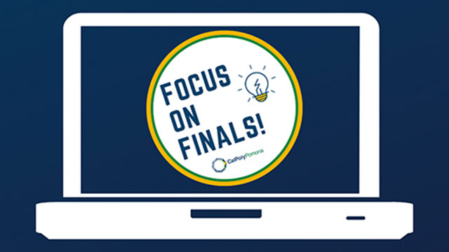 Graphic with text Focus on Finals!