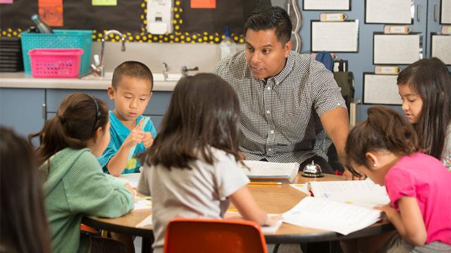 Eric Guzman teachers math at Collegewood Elementary.
