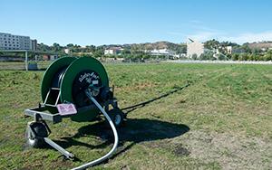 high-volume, semi-automatic watering reels