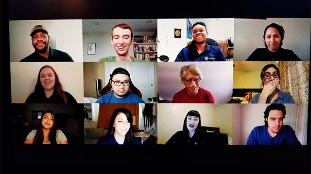 VRC members in a Zoom meeting.