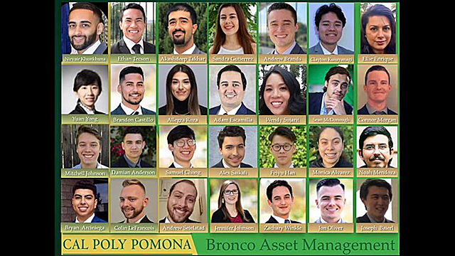 Cal Poly Pomona Bronco Asset Management team