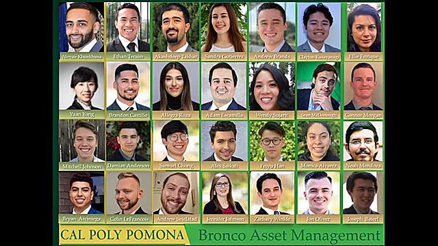 Cal Poly Pomona Bronco Asset Management team