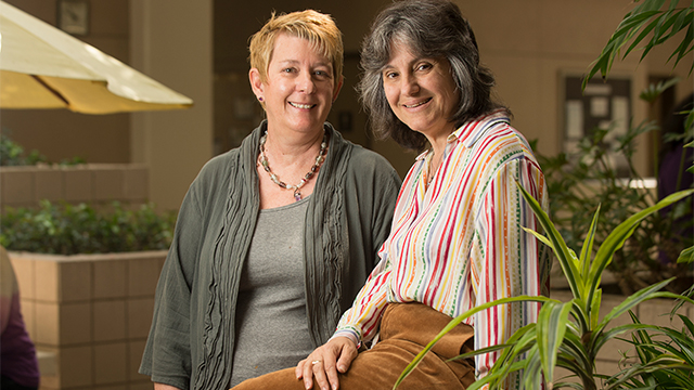Peg Lamphier and Roseanne Welch, lecturers in the Department of Interdisciplinary General Education