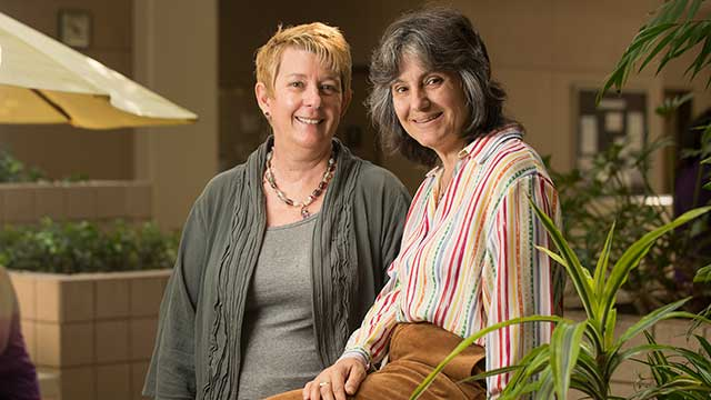 IGE lecturers Rosanne Welch and Peg Lamphier