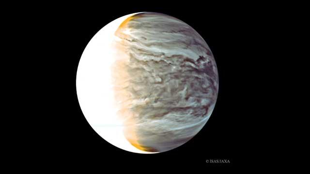 Night on Venus in Infrared from Orbiting Akatsuki.